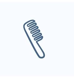 Comb sketch icon vector image