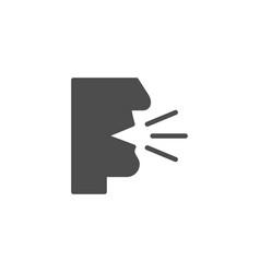 Cough icon and flu symbol vector