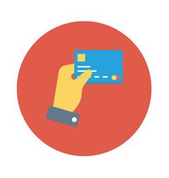 Credit gesture vector