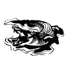 crocodile logo design vector image