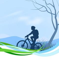 Cycling scene vector