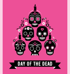 day dead dia de los muertos banner vector image