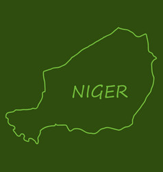 Detailed of a map of niger with flag eps10 vector