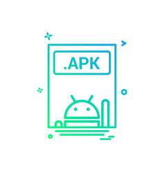 File files apk icon design vector