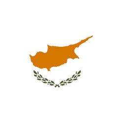 Flag of republic of cyprus in official vector