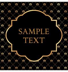 Golden Frame on Damask black Background vector