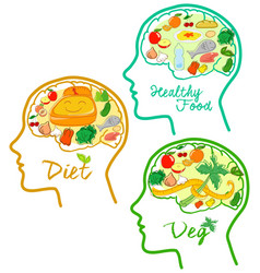 good diets icons vector image