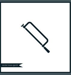Hacksaw icon simple vector