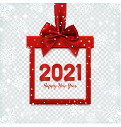 Happy new year 2021 background square banner in vector