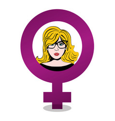 happy womens day gender symbol vector image