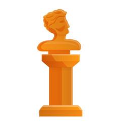Head sculpture icon cartoon style vector