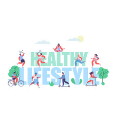 Healthy lifestyle concept flat style design vector