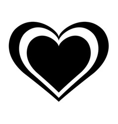 heart icon or symbol isolated on white background vector image