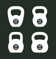kettlebells icons vector image