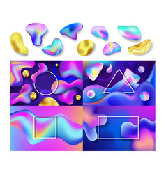 liquid abstract abstracted color backdrop vector image