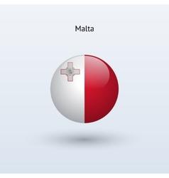 Malta round flag vector