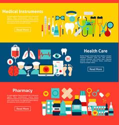medicine horizontal banners vector image