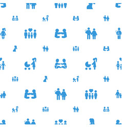 mom icons pattern seamless white background vector image