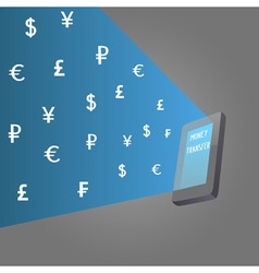 Money transfer vector image