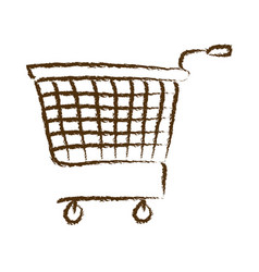 Monochrome hand drawn silhouette of supermarket vector