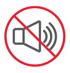 no sound line icon prohibition and forbidden vector image