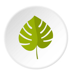 palm leaf icon circle vector image