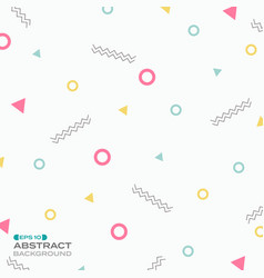 pattern sweet color geometric style background vector image