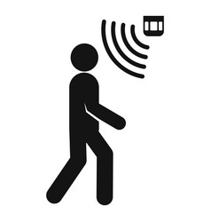 People motion sensor icon simple style vector
