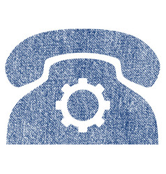 Phone settings fabric textured icon vector