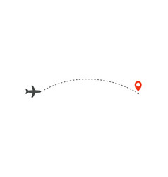 plane way icon airplane path direction and vector image