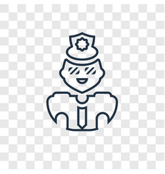 policeman concept linear icon isolated on vector image
