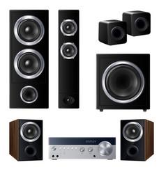 Realistic speakers set vector