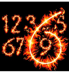 red hot numbers vector image