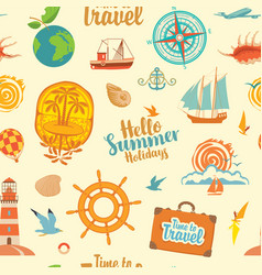 seamless pattern on theme summer holidays vector image