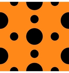 Seamless Pattern with circle Black polka dots vector