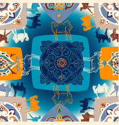 seamless pattern with oriental motifs and vector image