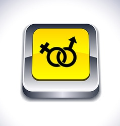 Sex 3d button vector