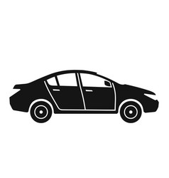 side view of car sedan icon vector image