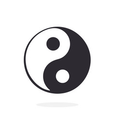 silhouette yin and yang symbol vector image