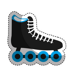 Skate roller isolated icon vector