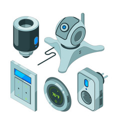 Smart home tools various electrical web equipment vector