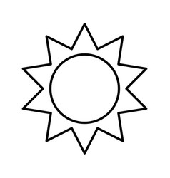 Sun silhouette ecology icon vector