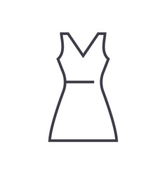 sundress line icon sign on vector image