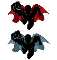 superhero coming silhouette vector image