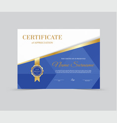 Template certificate of appreciation vector