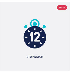 Two color stopwatch icon from american football vector
