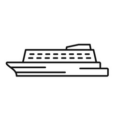 Water cruise icon outline style vector