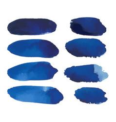 Watercolor set blue banners spots vector