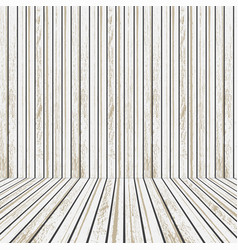 white wooden stage for advertising vector image