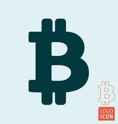 bitcoin icon line design vector image